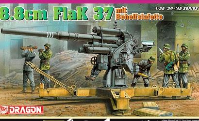 Flak 37 mit Behelfslafette 8,8cm 1:35 Carson 776523 500776523