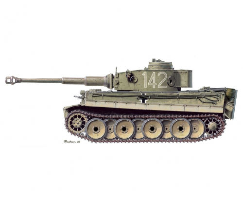 1:35 Tiger I Initial Production Carson 776608 500776608