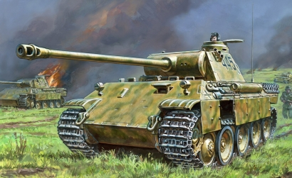 1:100 Panther Ausf.A German Tank WWII Carson 786196 500786196