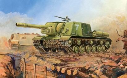 1:100 Soviet Self-Propelled Gun ISU-152 Carson 786207 500786207