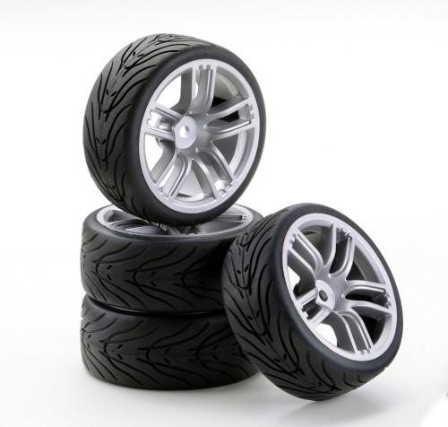 1:10 SC-Räder GT Style silber (4) Carson 900533 500900533