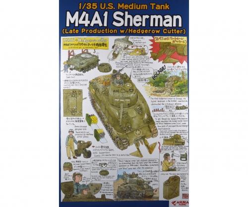 1:35 US M4A1 SHERMAN Spät Hedger. Cutter Carson 1035022 50103502