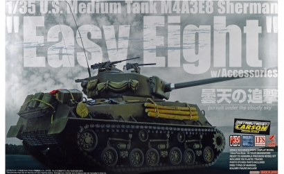 1:35 US SHERMAN M4A3E8 m. Zubehör LIMIT. Carson 1035030 50103503