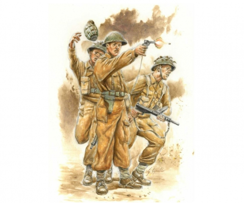 1:56/28mm Fig.-Set WWII Brit. Infanterie Carson 15604 510015604