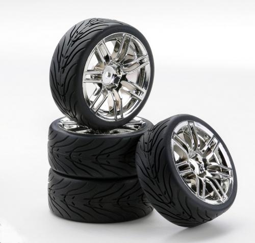 1:10 SC-Räder 4S Style chrom (4) Carson 4900048 554900048