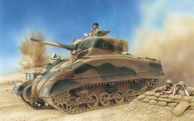 E1 Alamein Sherman 1:35 Carson 776447