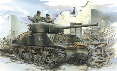 Sherman M4A3(76)W VVSS 1:72 Carson 777271