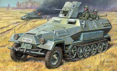 German Sd.Kfz 251/10 1:35 Carson 783588