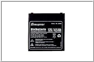 Bleiakku 12 V/4,5 Ah Graupner 2590