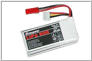 LiPo-Akku 2/650 7,4VBEC Graupner 7610.2