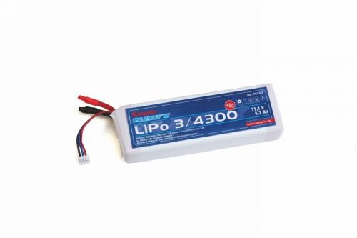 LiPo-Akku 3S 4300 mAh 25C Graupner 7614.3