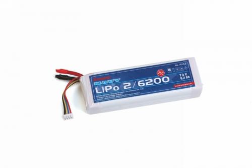 LiPo-Akku 2S 6200 mAh 25C Graupner 7616.2