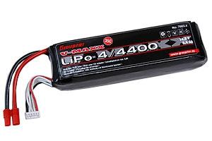 LiPo-Akku V-MAXX 35C4/4400 14,8V G3,5 Graupner 7663.4