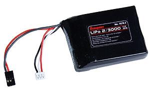 Empfängerakku LiPo 2/3000 7,4V JR-ST Graupner 7676.2