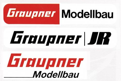 Aufkleber GraupnerModellbau85x30 Graupner 8107
