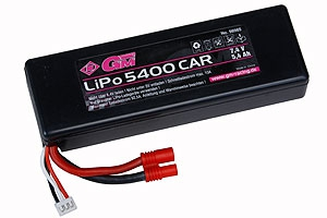 LiPo-Akku 2/5400 Car7,4V G3,5 Graupner 98985