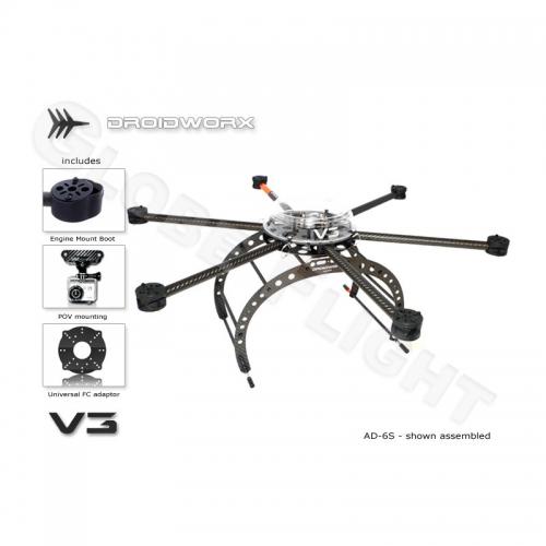 Droidworx AD-6 Hexakopter Rahmen  0335