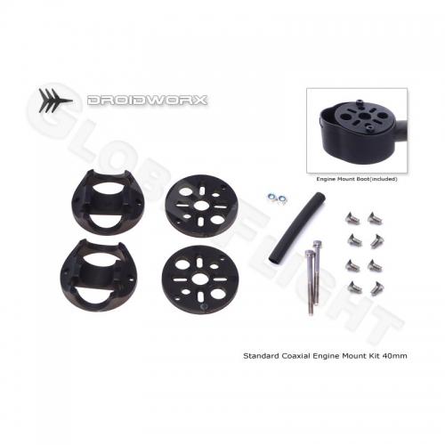 Motorhalter Kit für Droidworx AD und CX4 Rahmen (40mm Koaxial)  0444