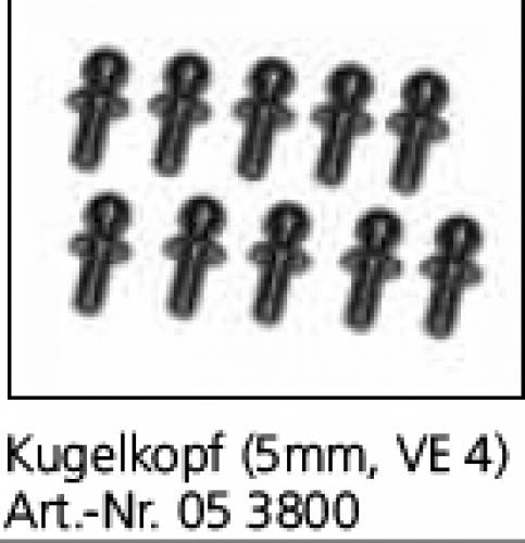 Kugelkopf 5mm X-10+Aggressor VE4 Jamara 053800