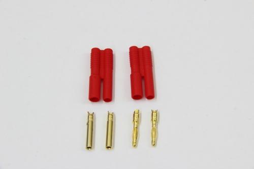 Goldkontakt 2mm SICHERHEITS-Geh.2St.2Bu.2Geh. Jamara 095640
