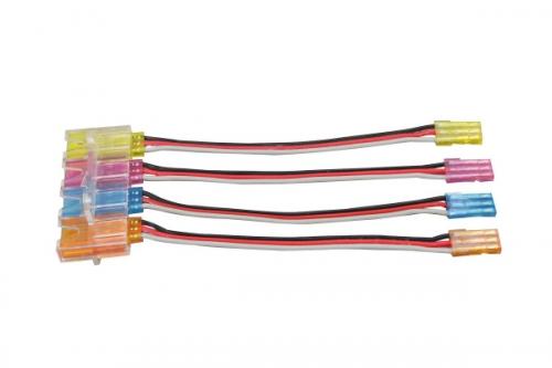 Verläng.-kabel JR m.farb.Stecker u.4-fach Halter Jamara 098173