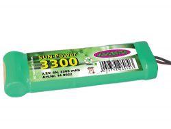 Akkupack SunPower 3300 6N 7,2V NiMH m. Tam.Stecker Jamara 148022