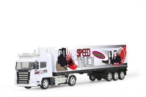 Container-LKW 1:32 weiß mit L Jamara 400036
