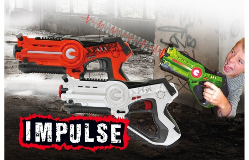 Impulse Laser Battle Set orange-weiß Jamara 410037