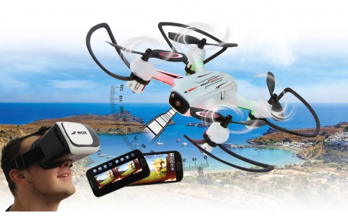 Angle 120 VR Drone WideAngle Altitude HD FPV Wifi Jamara 422029