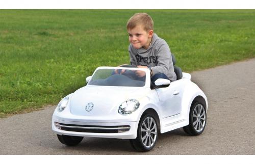 Ride-on VW Beetle weiß 27MHz 6V Jamara 460220