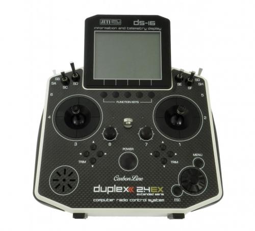Jeti Hand-Sender DS-16 carbonline Multimode white... JDEX-TDS16-C