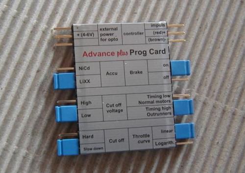 Jeti Advance plus Prog Card JETIADVPROG