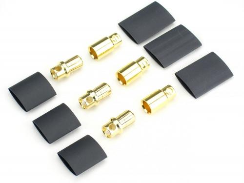 JETI Goldkontaktsteckerpaar 8mm (3 Paar) JMS-K8-3P