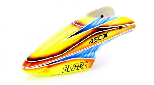 Blade 450: GFK Haube Orange / Blau Horizon BLH4381C
