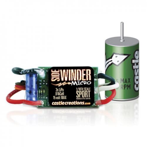 Castle Sidewinder Micro Combo mit 0808 4100KV Motor Horizon CSE010005005