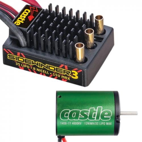 Castle Sidewinder Combo mit 1406-4600 Motor Horizon CSE010011501