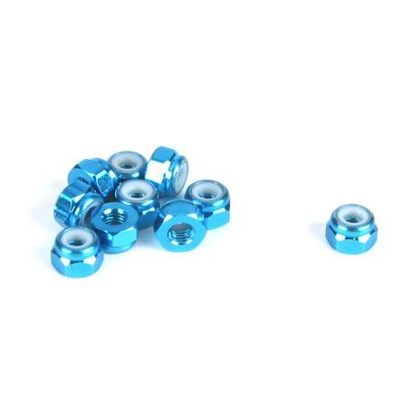 Dynamite Aluminium-Stoppmutter, blau (10 Stk) Horizon DYN8542