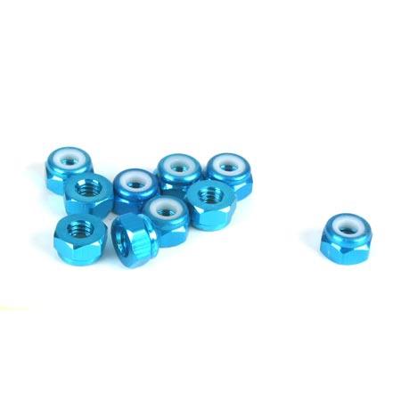 Dynamite Aluminium-Stoppmutter, blau (10 Stk) Horizon DYN8562