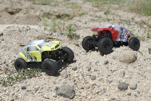 Temper 1:24 Rock Crawler: Red/White RTR Horizon ECX00012T1