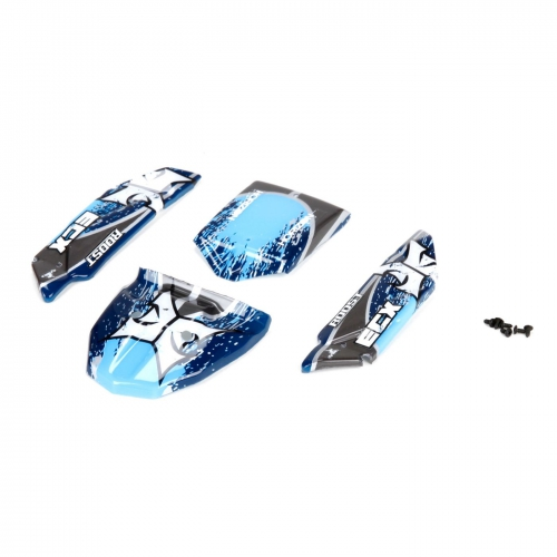 Body Set, Decorated, Blue/Grey: 1:24 Roost Horizon ECX200010