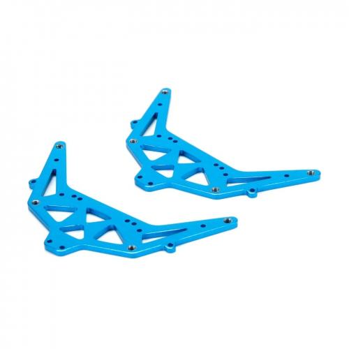 Side Plate Set, Aluminum, Blue: 1:24 4WD Temper Horizon ECX201009