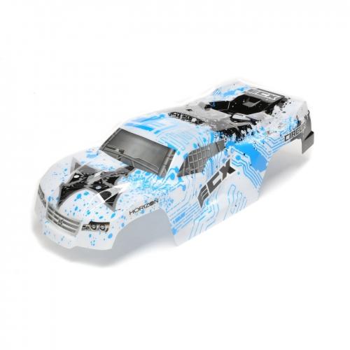 ECX Karosserie, weiß/blau: 1/10 2WD Circuit Horizon ECX230024