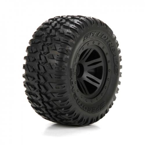ECX Reifen vorne/hinten, schwarz, vormontiert: 1:10 AMP DB Horizon ECX43012