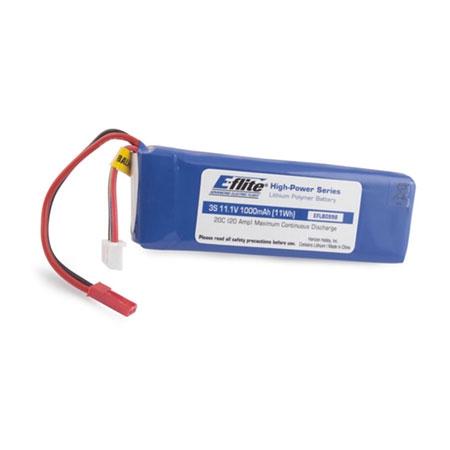 E-flite 3S 11,1V 1000mAh 20C LiPo-Akku m. JST-Anschluss Horizon EFLB0998