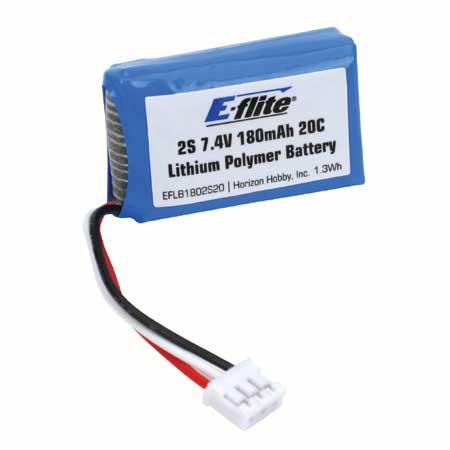 E-flite 2S 7,4V 180mAh 20C LiPo-Akku Horizon EFLB1802S20