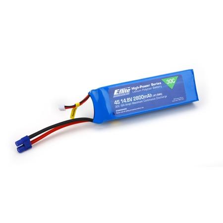 E-flite 4S 14,8V 2800mAh 30C LiPo-Akku m. EC3-Stecker Horizon EFLB28004S30