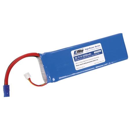 E-flite 3S 11,1V 3200mAh 30C LiPo-Akku m. EC3-Stecker Horizon EFLB32003S30