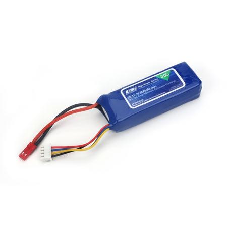 E-flite 3S 11,1V 800mAh 30C LiPo-Akku m. JST-Stecker Horizon EFLB8003SJ30