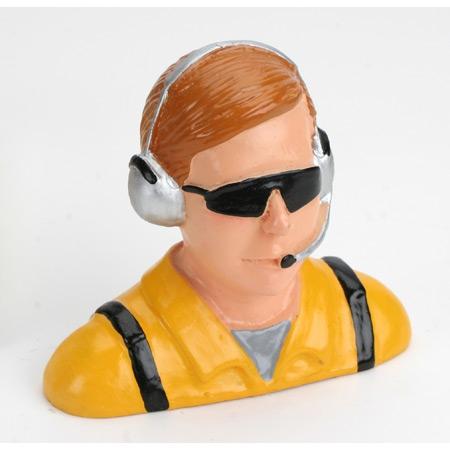 Hangar 9 1/4 Pilot, Zivil m. Headset Sonnenbrille  u. Mikro Horizon HAN9123