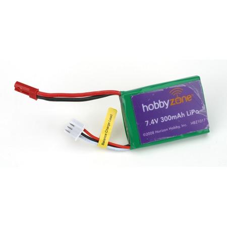 7.4V 300mAh Li-Po Batt: Mini Horizon HBZ1017